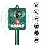 Third A Solar Power Ultrasonic Animal & Pet Repeller, Waterproof Cat Repellent Battery
