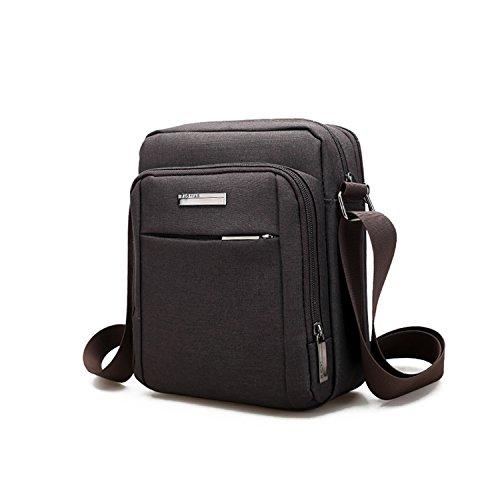 Outreo Sacchetto Uomo Borsa Tracolla Tablet Borse a Spalla Borsetta Viaggio Borsello Sport Vintage Messenger Bag per Studenti Marrone