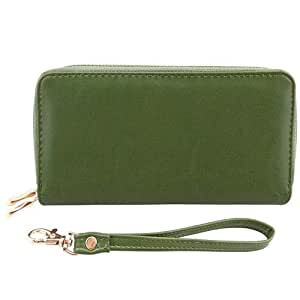 Bello Tutti Large Capacity Long Clutch Wallet Female Leather Card Holder Phone Pocket Women Wallets Purse Green