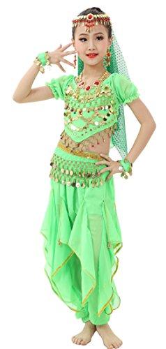 Astage Girls costume per la danza del ventre a maniche corte all ornamenti