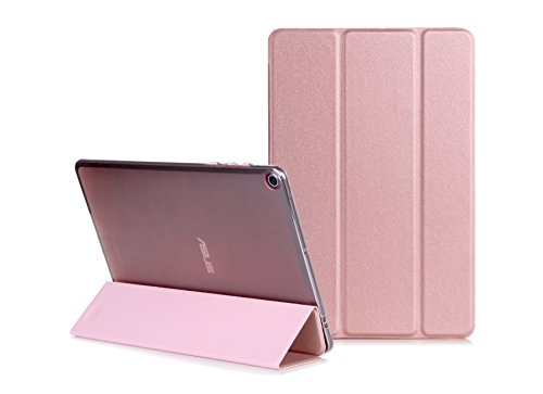 Preisvergleich Produktbild DBIT Asus ZenPad 3S 10 Z500M 9.7 Hülle - Ultra Schlank und Leicht Tri-Fold PU Leder Schutzhülle Ständer Cover mit Standfunktion für Asus ZenPad 3S 10 Z500M 9.7,Rose Gold