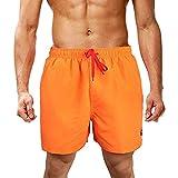 ☀NnuoeN☀ Costumi Uomo, Costume Mare Uomo Elasticizzati Costume Bagno Uomo Quick Dry Tasche con Tasca Pantaloncini Sportivi da Uomo Pantaloncini Casual da Uomo