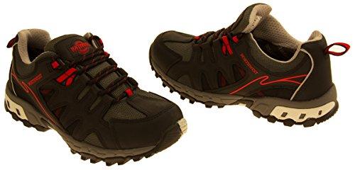 Hommes NORTHWEST TERRITORY Chaussures imperméables en cuir Rouge
