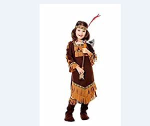 Costume carnevale indiana deluxe tg s bambina for Amazon vestiti bambina