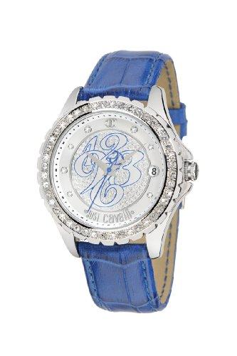 Just Cavalli R7251167915 - Reloj de mujer de cuarzo, correa de piel color azul claro