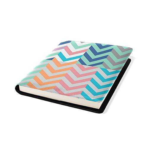 COOSUN Köcher voll von Pfeilen Matching Chevrons Buch Sox dehnbar Buchcover, passt die meisten Hardcover-Lehrbücher bis zu 9 x 11. Adhesive-Free, Pu Leder Schulbuch Protector