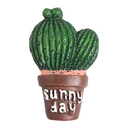 Kostüm Tage Sonnige - JTXZD Brosche 6 Stile sonnigen Tag Topfpflanze Pins benutzerdefinierte Kaktus Aloe Broschen Rucksack Shirt Revers Pin Badge Cartoon für Kinder