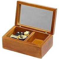 Preisvergleich für Spieluhr, aus Holz, zum Aufziehen, Kleine Größe, mit Spieluhr, Geschenk Wood-golden