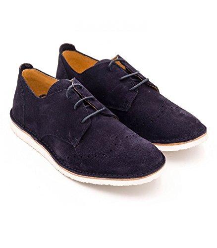 Boni Hugo - Chaussures Garçon en Daim Bleu Marine
