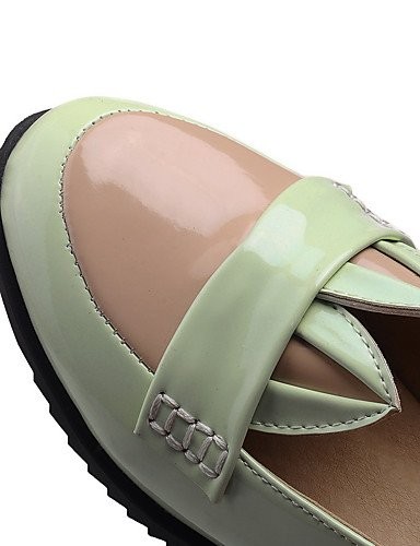 WSS 2016 Chaussures Femme-Bureau & Travail / Habillé / Décontracté-Noir / Vert / Rose-Talon Compensé-Compensées / Confort / Bout Arrondi-Talons- black-us7.5 / eu38 / uk5.5 / cn38