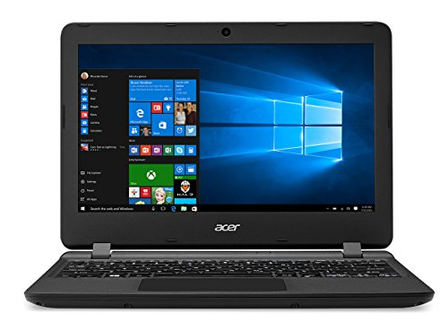 'Acer ES1 – 132-c9nx – 11.6 HD-Laptop (Intel Celeron N3350, 2 GB RAM, 32 GB eMMC, Bluetooth 4.0, Windows 10); Schwarz – QWERTY Tastatur Spanisch
