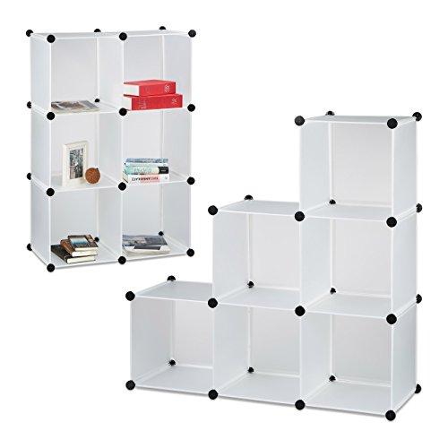 �cher, Stufenregal, Standregal, Raumteiler, Bücherregal, Treppenregal, HxBxT: 110 x 110 x 35 cm, weiß ()
