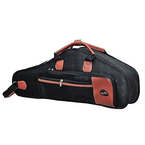TOOGOO(R)1680D Water-resistant Oxford Cloth Bag Cotton Padded Advanced Fabrics Sax Soft Case Adjustable Shoulder Straps Pocket for Alto Saxophone