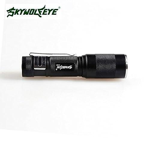 Tactical Taschenlampe, TopTen Fan-Motive 4000Lumen Super helle 3Modi Zoom einstellbarer Fokus wasserdicht LED Taschenlampen Lampe