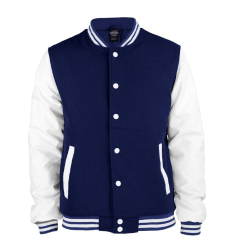 Urban Classics Herren Jacke Oldschool College Jacket Red/White