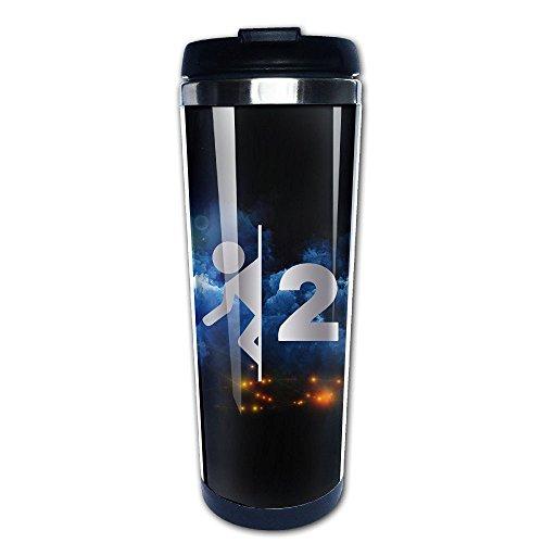 Stainless Steel Portal 2 Game Logo Platinum Style Tumbler Coffee Mug(Tazzine da caffè)
