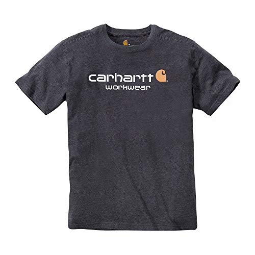 Carhartt .101214.026.s005 Core Logo T-Shirt, Medium, Carbon Heather (Du Tshirt)