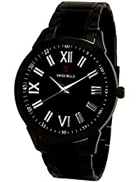 Svviss Bells™ Original Black Dial Stainless Steel Men's Wrist Watch - TA-942
