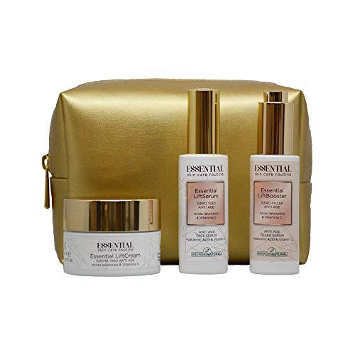 Essential Skin Care Routine, Pochette con LiftCrea...