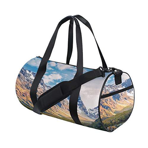 Plosds Schöne Neue Südinsel benutzerdefinierte Multi leichte große Yoga Gym Totes Handtasche Reise Canvas Duffel Taschen mit Schulter Crossbody Fitness Sport Gepäck für Jungen Mädchen Mens Womens
