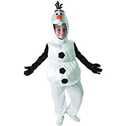 Rubies - Disfraz de Olaf para niños, Disney, talla 5-6 años (Rubies 610367-M)