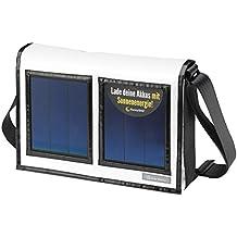 staymobile Solartasche mit integriertem Solar Ladegerät für Powerbank Akku, Smartphone, iPhone, Samsung Galaxy, iPad, mobiles Ladegerät, moderne Umhängetasche