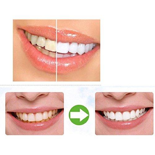 Natürliche Zahnarzt Gesund (Zahnaufhellung, Lanspo Teeth Whitening Powder Natürliche Organische Aktivkohle Bambus Zahnpasta Whitening Zahnpasta Pulver Lovely Smile für sich selbst (Schwarz))