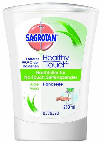 Sagrotan No-Touch Nachfüller Aloe Vera, 2 x 250 ml (Seifenspender In-schalter)