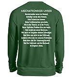 Shirtee Das Mechatroniker Unser - Gebet - Mechatronikerin - Geschenkidee - Geschenk - Mechatronik - Unisex Pullover