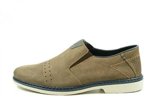 Rieker 13052-25 Schuhe Herren Halbschuhe Slipper Braun