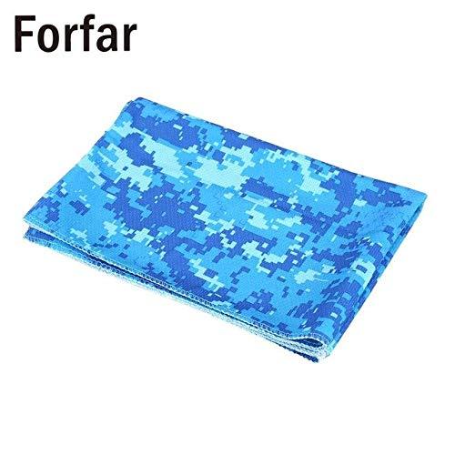 HATCHMATIC 4color Khl Handtuch Ort Handtuch Yoga Handtcher Coole Bowling Außen Ort Tragbarer Praktisch: Camo Blau