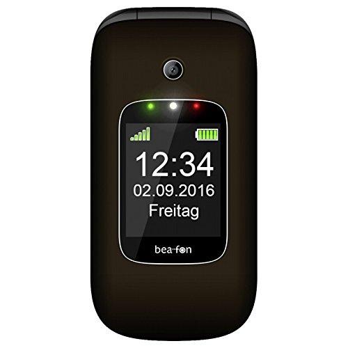 Image of Beafon SL580_EU001DS Mobiltelefon (Innendisplay 240 x 320 Pixel, 4,49 cm (1,77 Zoll Aussendisplay 128 x 160 Pixel, VGA Kamera, SOS-Notruftaste, 6,09 cm (2,4 Zoll dunkelbraun/schwarz