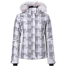 Icepeak - Camille grs Jacket l - Blouson de Ski - Gris Clair - Taille 36