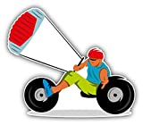 Kite Buggy Sport Pegatina de Vinilo Para la Decoracion del Vehiculo 12 X 10 cm