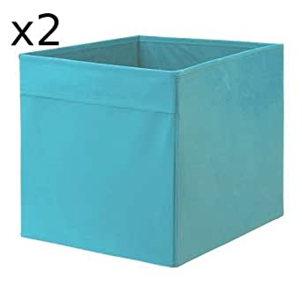 x2 ikea drona aufbewahrungsbox blau 33 x 38 x33 cm f r expedit regal 2 st ck. Black Bedroom Furniture Sets. Home Design Ideas