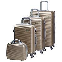 تشاليش حقائب سفر بعجلات للجنسين 4 قطع ، بني
