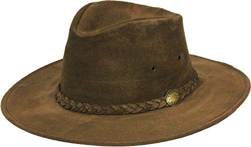 Henschel Walker Packable Crushable Rindsleder Wildleder geflochten Band L braun (Männer Für Henschel-hüte)