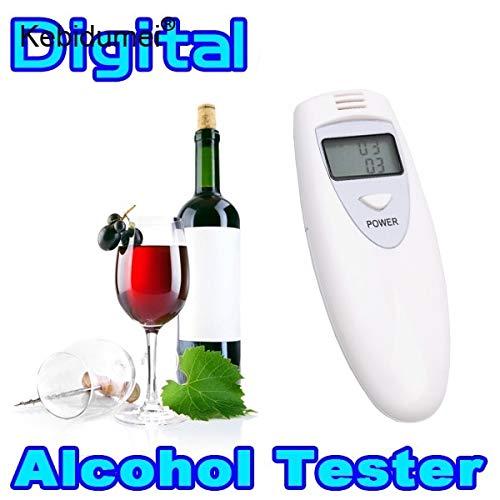 Homeve Mini Professioneller Alkohol-Atemtester Digitaler Polizei-Alkohol-Analysator Tester Gadget Detektor für Fahrersicheres Fahren (Polizei-detektor Für Auto)