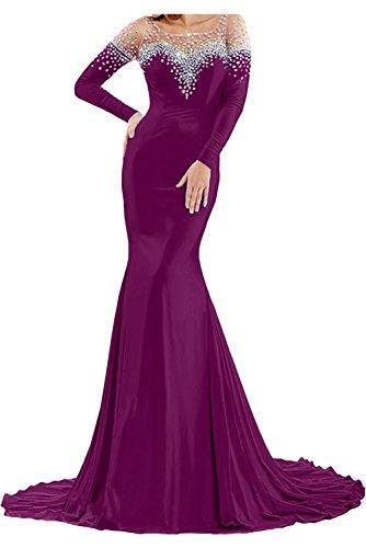 Toscana sposa Exklusive Nuovo Royal Blu Strass da Donna a maniche lunghe sirena abiti moda sera sera lungo Prom abiti party vestiti Bildfarbe