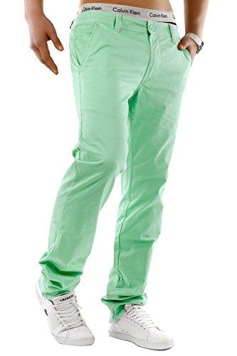Uomo chinos | Taglio regolare fit · leggeri pantaloni estivi · Chino Jeans · misto cotone-spandex · Straight Leg · Ampia gamma di colori | H1245 in qualità di marca Hellgrün
