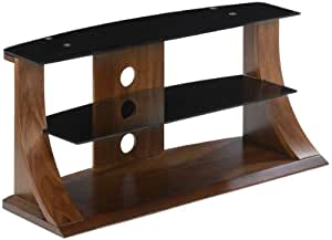 Jual Florence Curved Walnut and Black 50 inch TV Stand