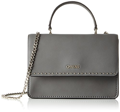 Guess Nikki Convertible Xbody Flap Top Borsa a Spalla, Donna, Marrone (Steel)