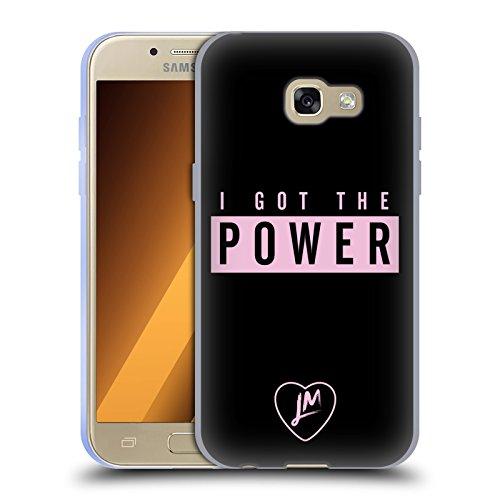 Head Case Designs Offizielle Little Mix Power Texte und Logo Soft Gel Hülle für Samsung Galaxy A3 (2017) (Gel Case Power)