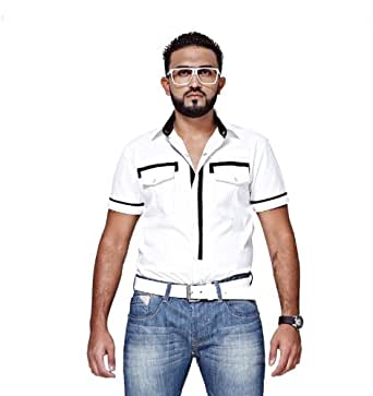 Mfaz - Chemise Unie - Couleur : Blanc - Taille : XXL