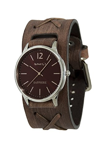 Nemesis Men's Analog Japanese-Quartz Watch with Leather Strap DBFXB252B