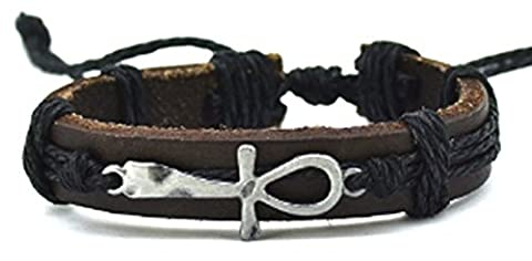 SaySure - Brand Leather Bracelet for Women Mens Jewelry Infinity