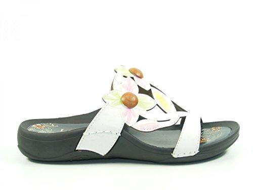 Laura Vita JD1735-A10 Serra Schuhe Damen Pantoletten Weiß