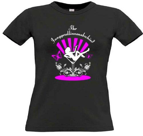 T-Shirt für den Junggesellinnenabschied mit dem Motiv Cocktailglas - Mitläuferinnen Black