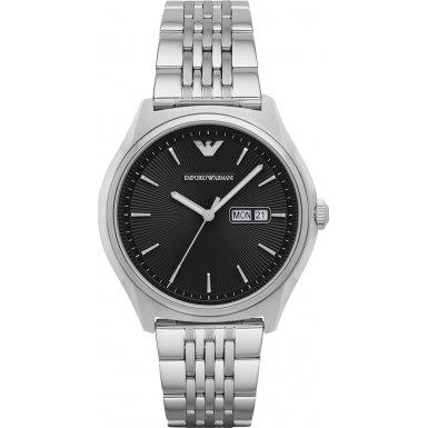 Emporio Armani AR1977 Mens Dress Silver Steel Bracelet Watch