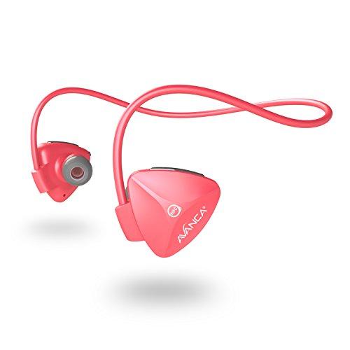 Avanca D1 kabelloser Sport-Headset mit Bluetooth 4.0 NFC 100 Prozent Bewegungsfreiheit während Sporttrainings korallenrosa (Kabelloser Kopfhörer Für Läufer)